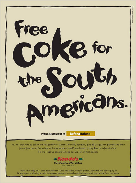 Free Coke for South Americans