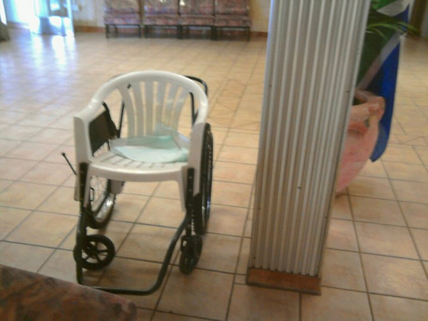 Wheelchair spotted in Kopanong Hospital, Vereeniging, South Africa