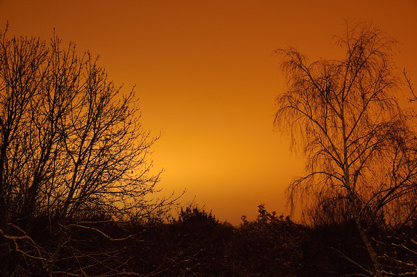 Orange Snow Sky