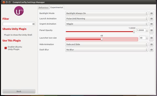 Ubuntu Unity Plugin - Experimental