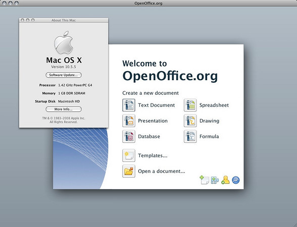 OpenOffice 3.0 Running on PowerPC (PPC)