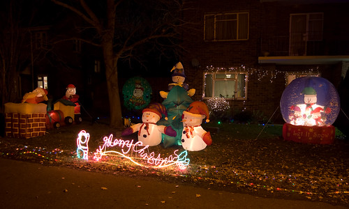 Christmas deco's on our front lawn