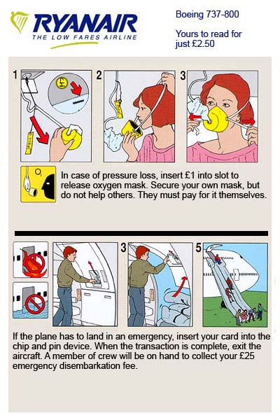 RyanAir's New Safety Card