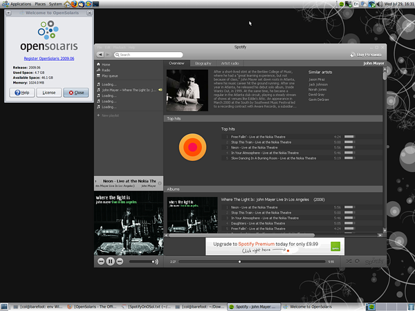 Spotify on OpenSolaris