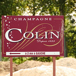 Champagne Colin Sign